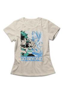 Camiseta Feminina Boku No Hero Bege