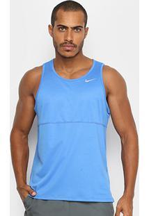 Regata Nike Breathe Run Tank Masculina - Masculino-Azul