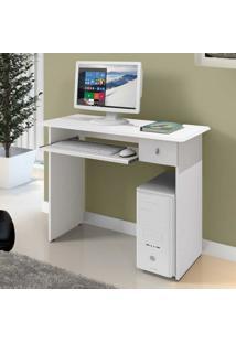 Mesa Para Computador 1 Gaveta Dalian Plus Mavaular Branco/Frassino Jacarta Lacca