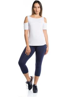 Camiseta Manga Curta Pinyx Open Shoulder Branco