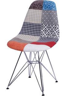 Cadeira Eames Patchwork Base Cromada - 25243 - Sun House