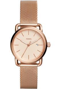 Relógio Analógico Fossil Feminino - Es4333/1Jn Rosê