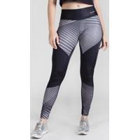 18d923179 Calça Legging Surty Linear Rounds Feminina - Feminino-Preto