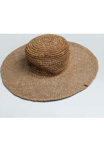 Chapeu Crochet Palha-Natural - P