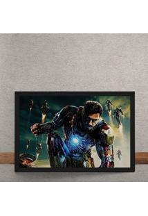 Quadro Decorativo Homem De Ferro Tony Stark Vingadores Marvel 25X35