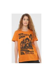 Camiseta Colcci Girl'S Night Laranja