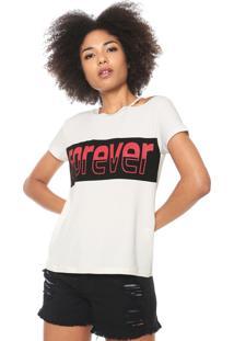 Camiseta Fiveblu Forever Off-White