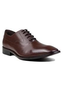 Sapato Masculino Social Zariff Em Couro Zariff Marrom