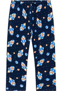 Calça Pijama Infantil Masculina Marinho