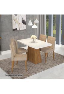 Conjunto De Mesa & Cadeiras Helen- Savana & Caramelocimol