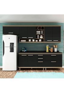 Cozinha Compacta New Vitoria 11 Avelã Tx/Onix - Hecol