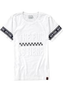 Camiseta Infantil The Fun Is Here Malwee Kids Feminina - Feminino-Branco