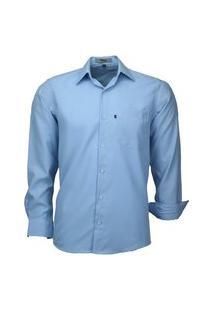 Camisa Social Amil Não Amassa 832 Azul Bebê