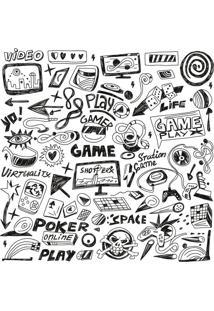 Papel De Parede Adesivo Virtual Game (0,58M X 2,50M)