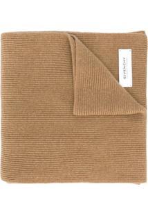 Givenchy Cachecol De Tricô Com Patch De Logo - Neutro