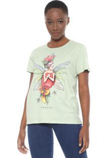 Camiseta Colcci Fairy Verde