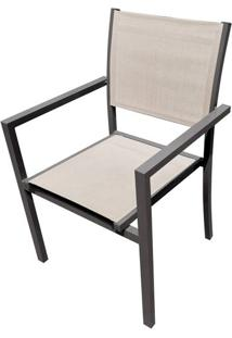Cadeira Guaruja Amendoa Tela Bege 88 Cm (Alt) - 43499 - Sun House