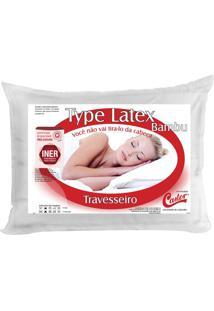 Travesseiro Type Latex- Branco- 16X70X50Cm- Castcastor
