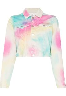 Jordache Jaqueta Jeans Tie Dye - Multicoloured
