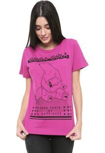 Camiseta Coca-Cola Jeans Urso Pink