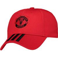 Boné Adidas Manchester United 3S Vermelho bf1148b8a21