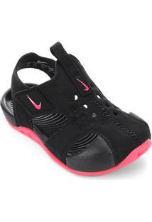 Sandália Infantil Nike Sunray Protect 2 - Masculino-Preto+Pink