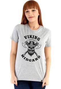Baby Look Ouroboros Viking Skull Feminino - Feminino