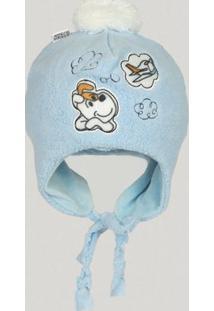 Touca Bebê Soft - Masculino-Azul