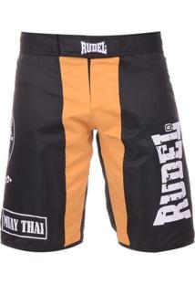 Bermuda Rudel Academy Muay Thai Amarelo
