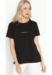 """Camiseta """"Trendsetter""""- Preta & Branca- Colccicolcci"""