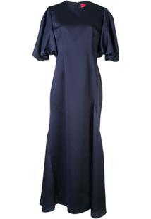 Solace London Vestido Longo Rani - Azul