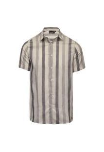 Camisa Masculina Flamê Listrado Vertical Off+Pto