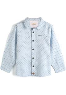 Camisa Milon Menino Padronagens Azul