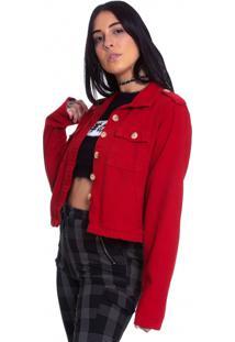 Jaqueta De Sarja Le Julie Vermelha
