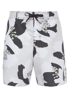 Bermuda Masculina Surf Floral Kyoto - Off White