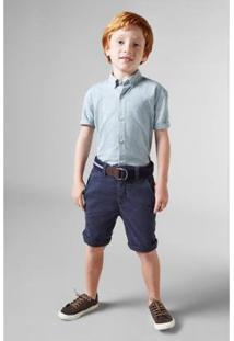 Camisa Masculina Infantil Mini Oxford Mc Reserva Mini - Masculino-Verde