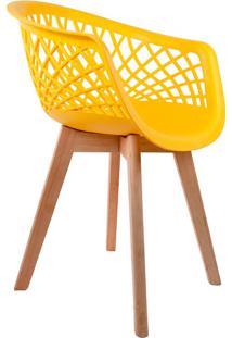 Cadeira Web Wood Amarela