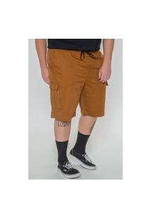 Bermuda Sarja Com Elastano Plus Size Caramelo Bermuda Sarja Com Elastano Plus Size Caramelo P Kaue Plus Size