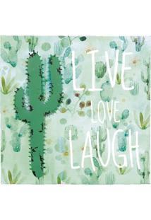 Quadro Decorativo Cacto Love Verde