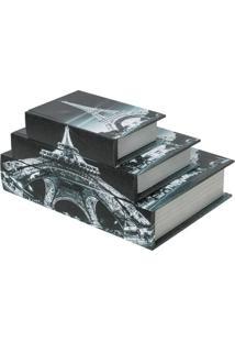 Livro Caixa Paris Preto
