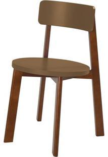 Cadeira Lina Cor Cacau Com Marrom Claro - 31533 - Sun House