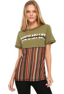Camiseta My Favorite Thing(S) Estampada Verde