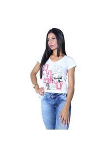 Camiseta Heide Ribeiro Estampada Love Branco