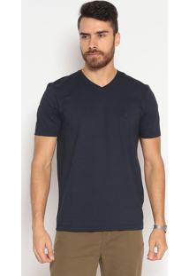 Camiseta Slim Fit Lisa - Azul Marinhoindividual
