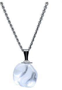 Colar Nordmann Co. Pedra Cristal Pequeno Prata