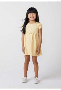 Vestido Infantil Menina Com Mangas Bufantes Baby A