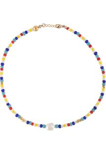 Nialaya Jewelry Short Seebead Necklace - Estampado