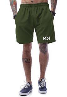 Bermuda Tactel Ukkan Kk - Masculino-Verde Militar
