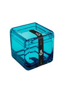 Porta-Algodão/Cotonete Cube 8,5 X 8,5 X 8,5 Cm Verde Coza