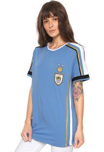 Camiseta My Favorite Thing(S) Uruguai Azul